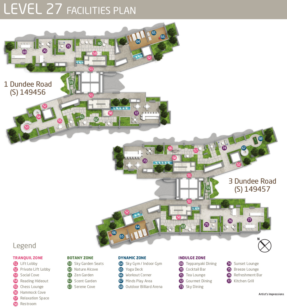Queens Peak Site Layout Plan . Sky Terrace at Level 27
