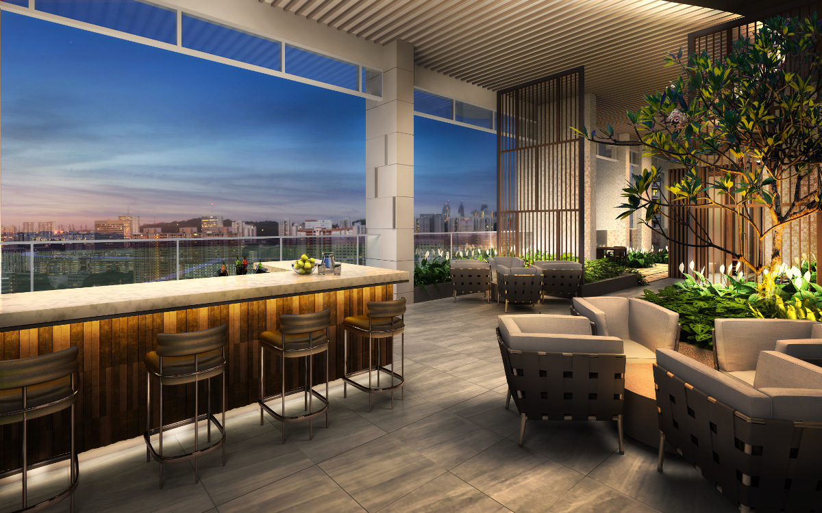 Queens Peak Condominium Sky Lounge